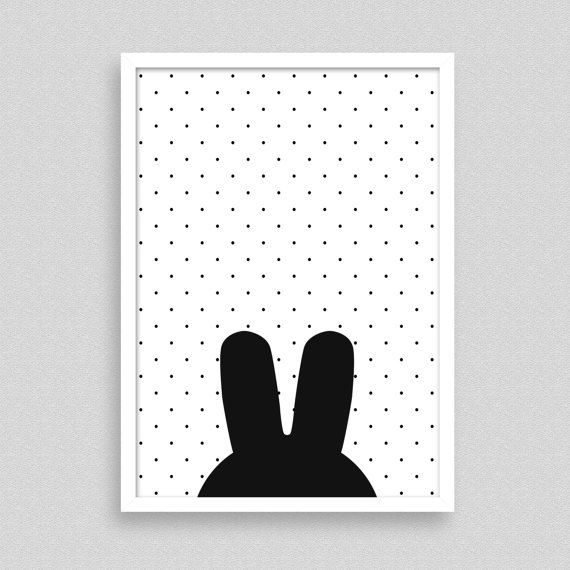Black and white kids print unframed A4 A3 by ModernKidsGallery