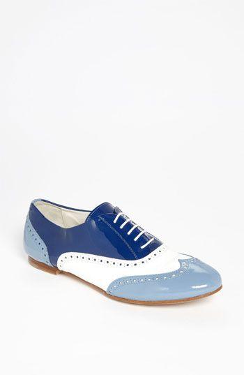 can someone ROCK these blue oxfords at a FL wedding, please!  Attilio Giusti Leombruni Tri Color Oxford | Nordstrom