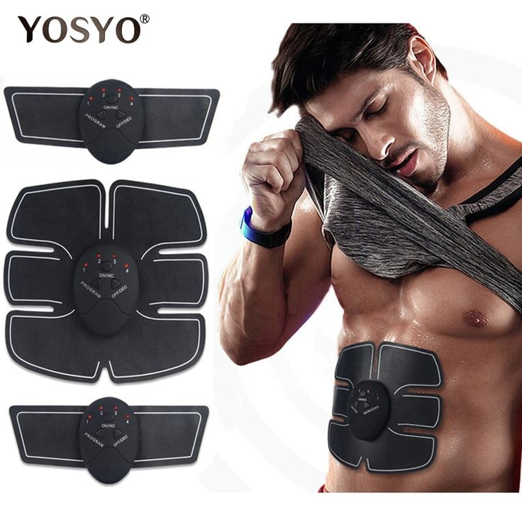 EMS Wireless Muscle Simulator Trainer Smart Fitness Abdominal Training Electric Weight Loss Stickers Body Slimming Belt Unisex