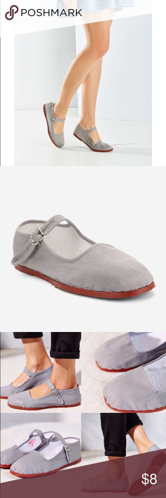 Tendance Chaussures 2017/ 2018 : Cotton Mary Jane Flat Super comfortable and cute cotton Mary Jane flats from Urb...