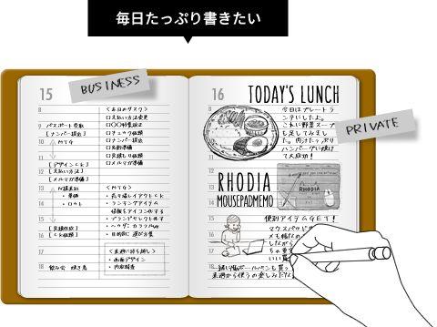 手帳の罫線レイアウトの選び方【手帳・ダイアリー】 - 和気文具 本店