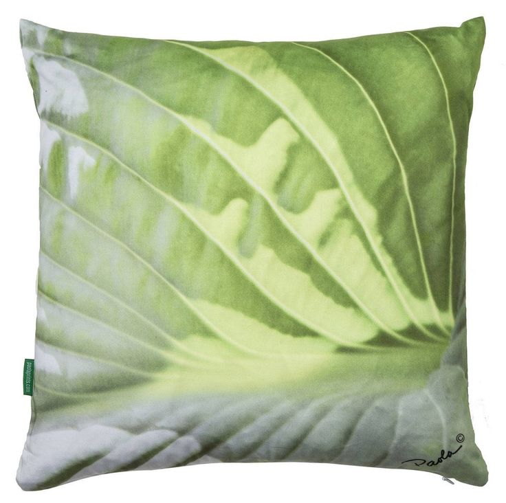 Paola Prints Floral Throw Pillow Cover, Zipper Closure, Floral Pillows, Decorative Pillows, Green Pillow Cover Only 18 x 18