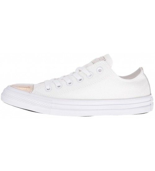 Converse Chuck Taylor All Star White Gold Womens Leather Trainers