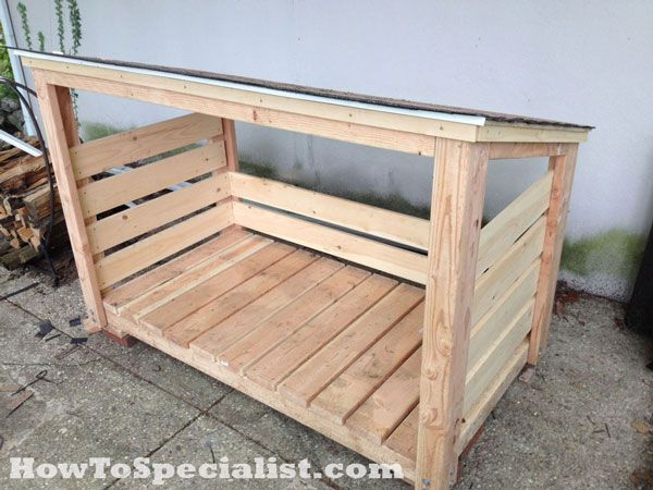 DIY Firewood Shed | HowToSpecialist - How to Build, Step by Step DIY Plans