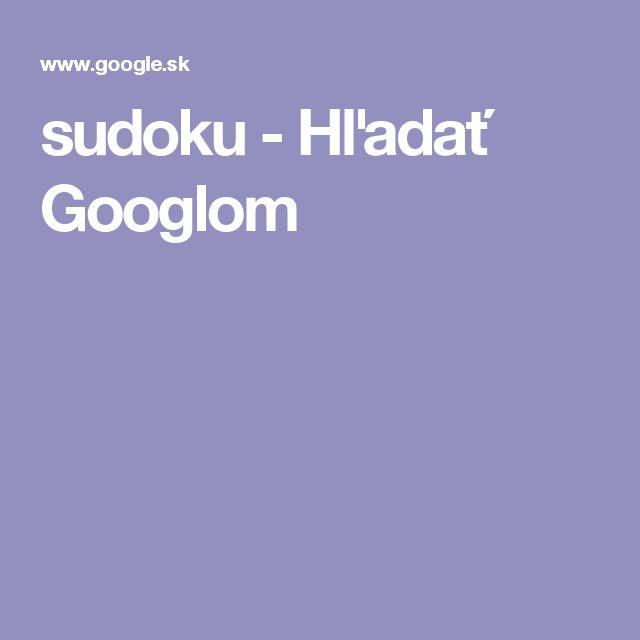 sudoku - Hľadať Googlom