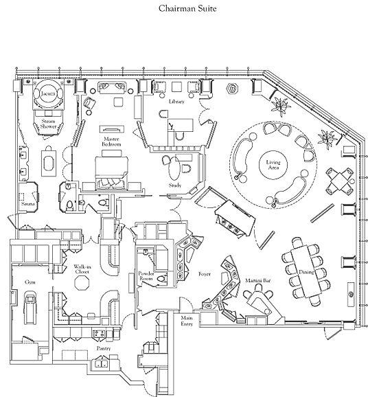 Floor Plan Of The Ritz Carlton Suite At The Ritz Carlton