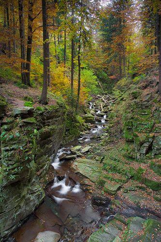Czech Republic, Beskydy Mountains Photos Milan Sofer . U Satinských vodopádů