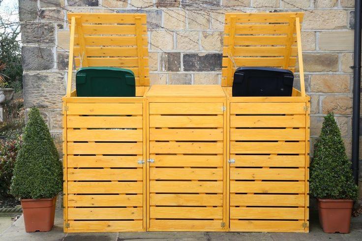 Eco Triple Wheelie Bin Cover - 3 Wheelie Bin Storage Unit…