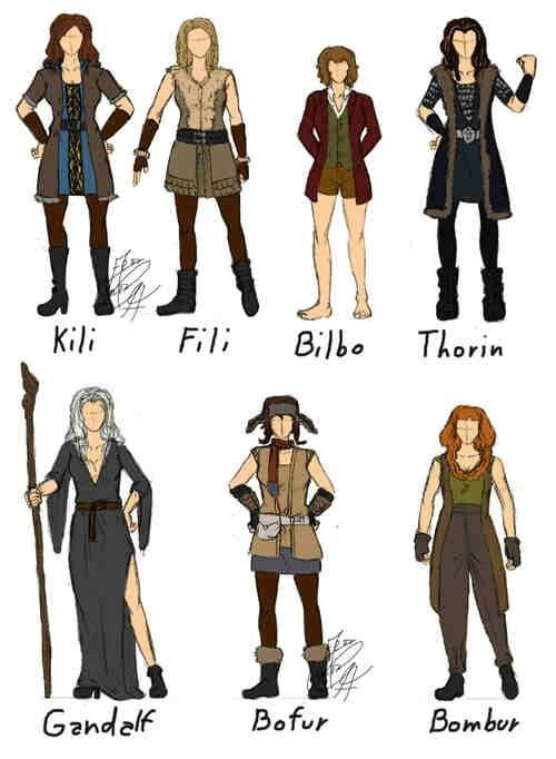 The hobbit cosplay genderbend ideas