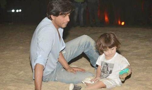 AbRam Khan with SRK | itimes