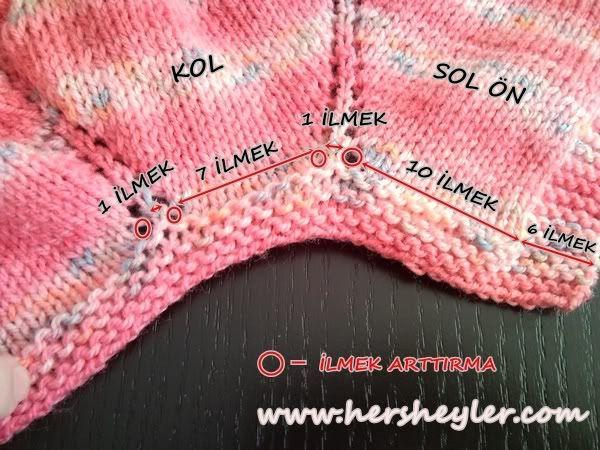 bebek hırkası nasıl yapılır | HERSHEYLER