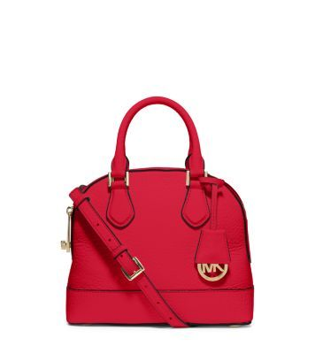 Smythe Small Pebbled-Leather Satchel by Michael Kors
