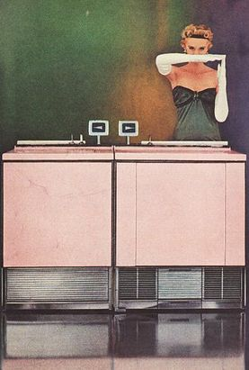 MUST... HAVE....! Detail from a Frigidaire Home Appliances ad of 1956 advertising those new sharp, oh-so-modern lines!