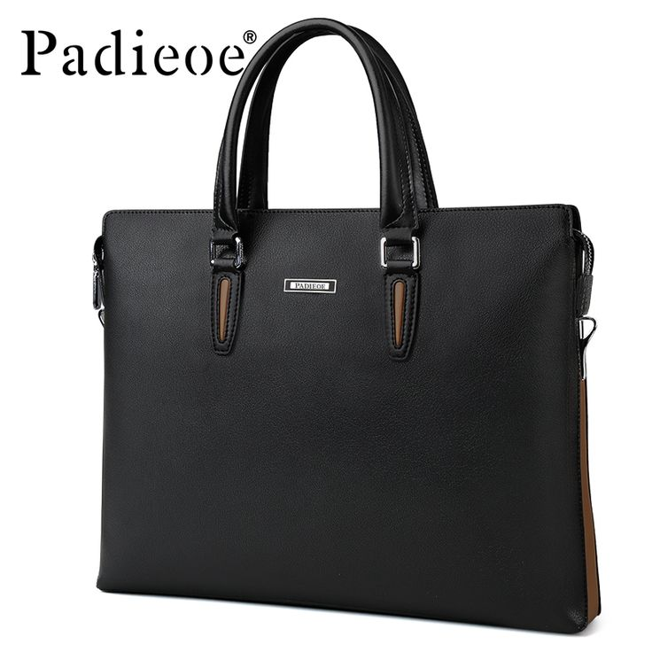 66.40$  Watch now - http://alivvm.shopchina.info/go.php?t=32810148951 - Padieoe Famous Brand 2017 Business Man's Bag Briefcase Leather Large Office Bags for Men Fashion Male shoulder bags with Handle 66.40$ #aliexpress