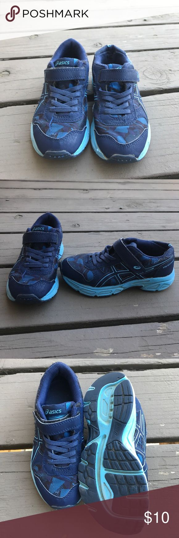 Asics boy running shoes size 12 normal wear Asics size 12 boys running shoes. Used, normal wear. Asics Shoes Sneakers