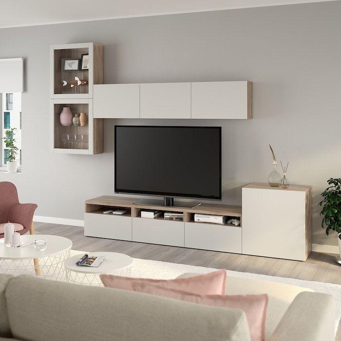 Ikea Besta Agenc Rangt Tele Vitrines Meuble Tv Mural Design Glass Door Decor De Mur De Tv