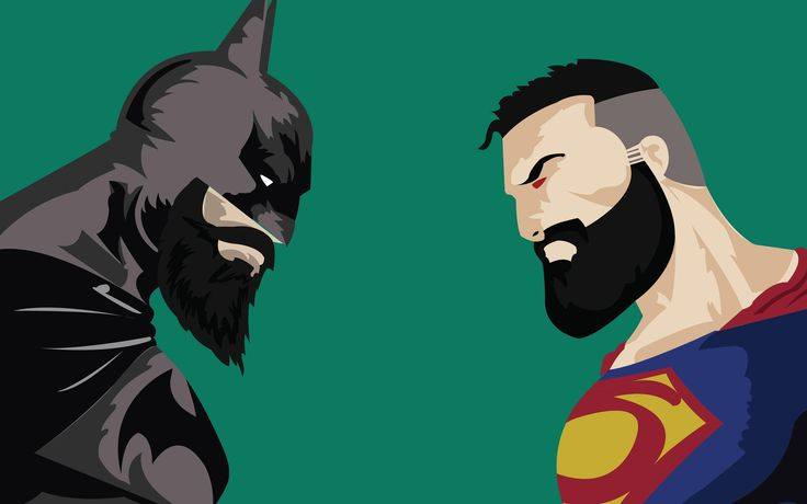 Batman Superman Beard Funny Dc   Batman Superman Beard Funny Dc is an HD desktop wallpaper posted in our free image collection of superheroes wallpapers. You can download Batman Super...
