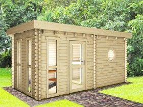 Gartensauna und Saunahäuser günstig kaufen - Naturholz Gartenhaus