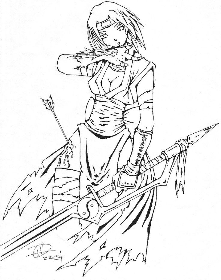Image Result For Pictures Of An Anime Ninja Girl Color Pages Anime Wolf Girl Coloring Pages For Girls Anime Wolf