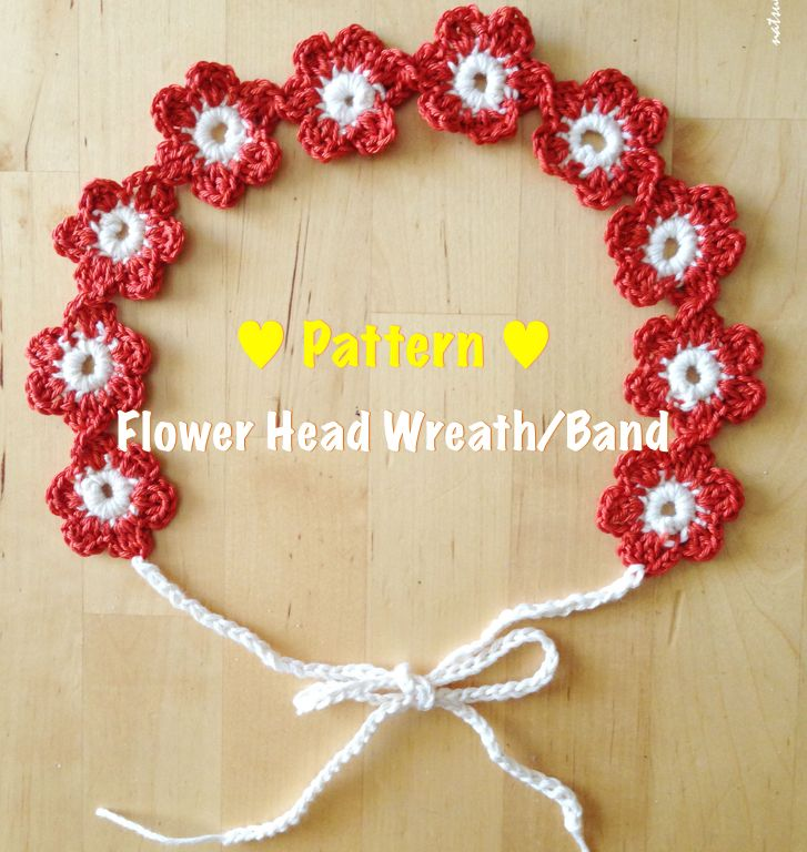 Step-by-step Crochet pattern: Flower Head band/ Flower wreath for every female from a baby to an adult.
