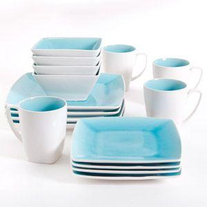My dishes! So pretty Gibson Studio Pleasanton 16-Piece Dinnerware Set, Square