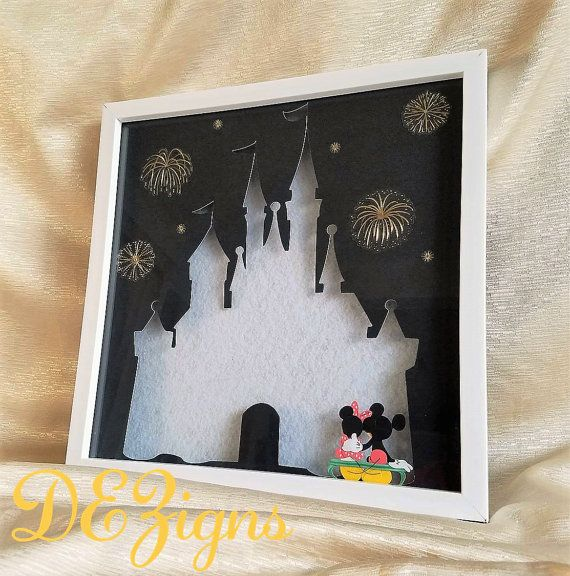 #DEZigns #desireesdezigns Disney pin shadowbox display at https://www.etsy.com/listing/453395010/disneys-sleeping-beauty-castle-pin