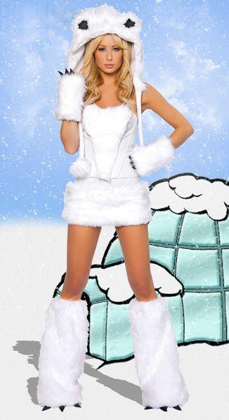 Polar Bear Sexy Women's Halloween Costume