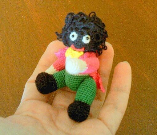 Miniature Crochet Golliwog Doll - http://www.bubblews.com/news/465521-miniature-crochet-golliwog-doll