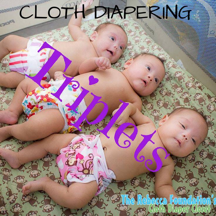 Cloth diapering triplets