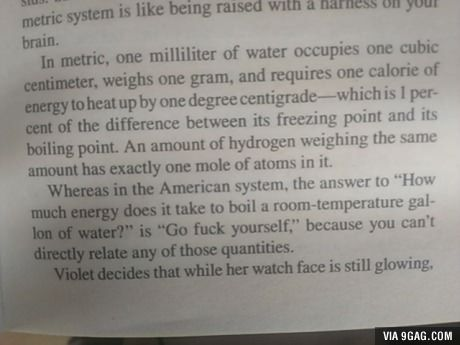 Great summary of Metric vs Imperial units.