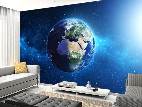 planet earth wall mural