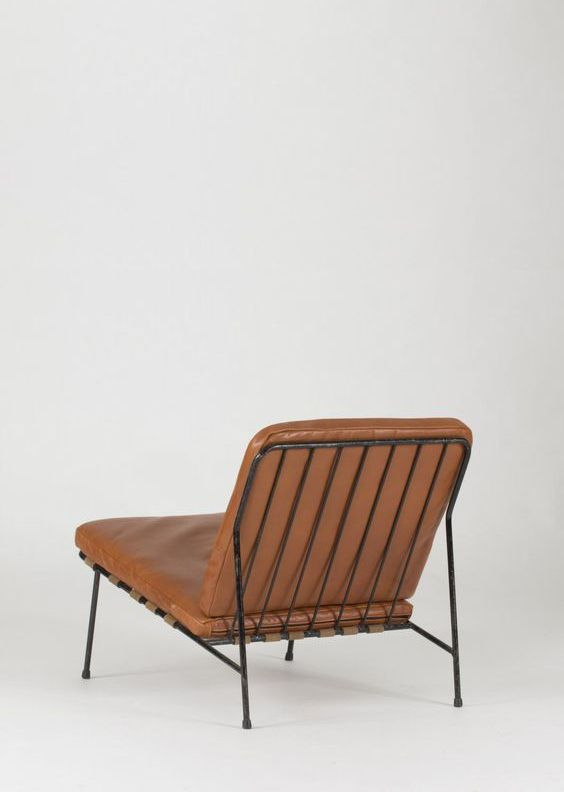 sold by Pamono. Leather Lounge Chair by Alf Svensson for Ljungs Industries, 1950s