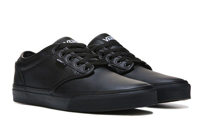 Vans Men's Atwood Leather Shoes Black