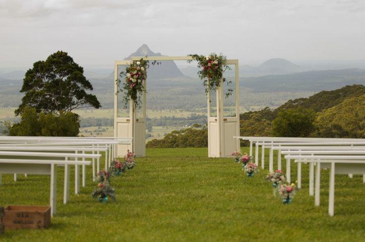 doorway wedding backdrop by Hodgepodge Hire
