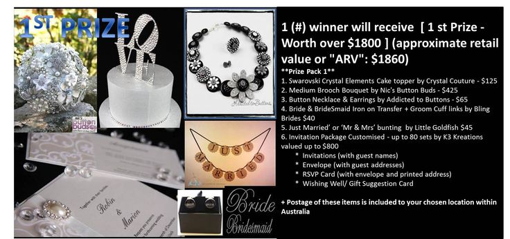 Win this pack worth over $1800 See https://www.facebook.com/nicsbuttonbuds/app_228910107186452 for more details Ends July 7th 2013