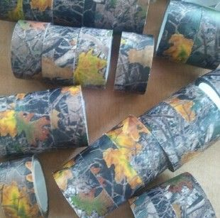 10 m outdoor army green camouflage hunting camouflage fan anti-camouflage tape tape Maple Leaf
