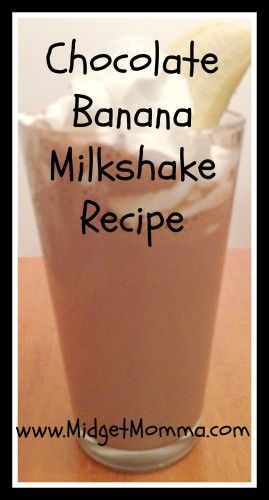 Chocolate Banana Milkshake Recipe - Easy recipe that tastes great after a summer meal. Kid friendly and the kids love them and helping make them.