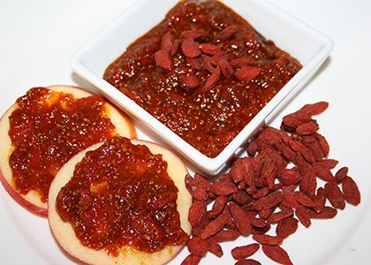 Goji berry jam, currently making this, looks easy to make with just four ingredients!