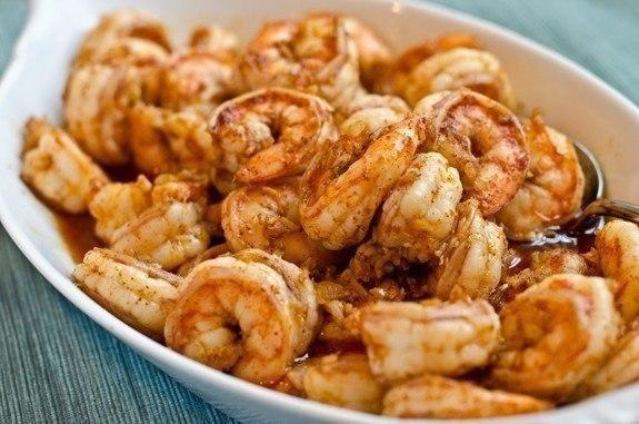Креветки в маринаде из чеснока, имбиря и чили / Любимая Азия
