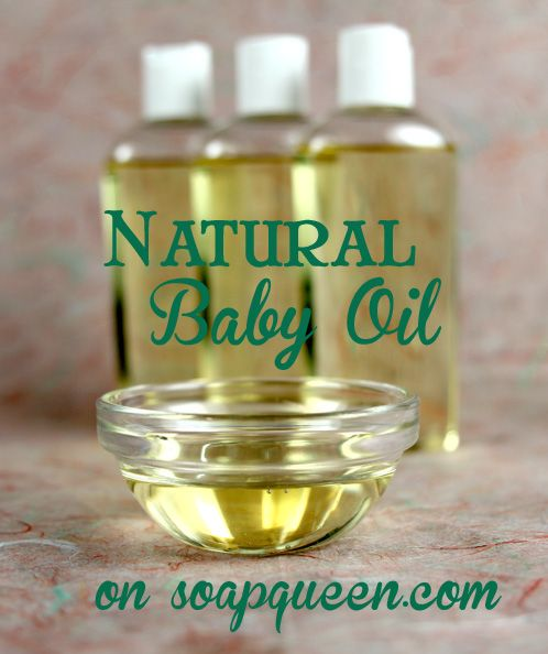 Natural Baby Oil on SoapQueen's Blog (Bramble Berry sells a Baby Powder Fragrance Oil that would be great in this)
