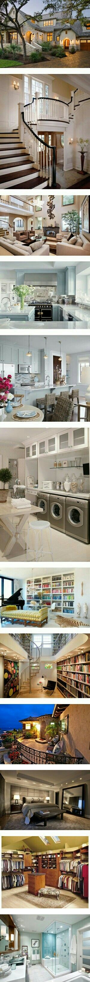 Space for all of us! My mom would love the laundry room..wow!