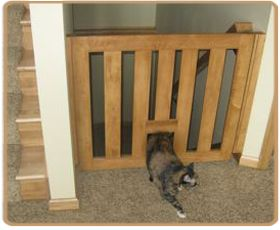 Ordinaire Lovely Cat Gate For Stairs #5 Cat Gate With Pet Door | Newsonair.org