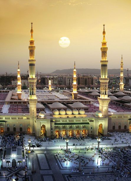 Masjeed al-Nabawi, The Grand Mosque in Madinah or Medina in Saudi Arabia is Islam's second holiest site and has a soothing feel to it.