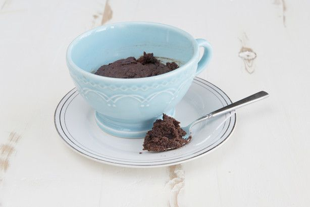 This makes a delicious brownie for one in about a minute. I used a 1500 watt microwave. 60 seconds makes a molten center brownie. 75 seconds make a uniformly done brownie. Careful not to overcook.