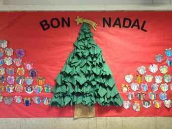 C mo preparar un rbol de navidad con servilletas de - Murales decorativos de navidad ...