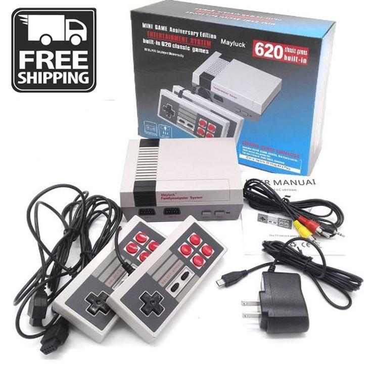 Mini Retro Family TV Game Console 8Bit Classic 620 Built-in Game + 2 Controller #UnbrandedGeneric