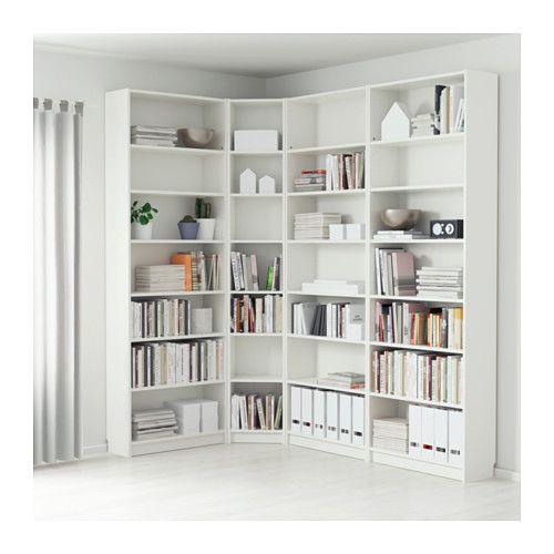 BILLY Bookcase - white, 215/135x237x28 cm - IKEA