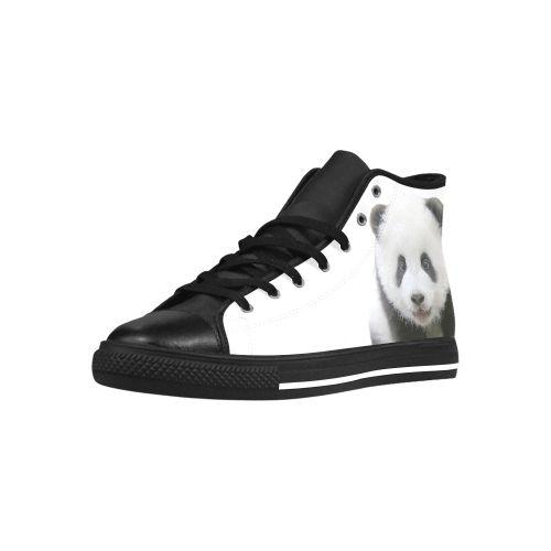 Panda Bear Aquila High Top Action Leather Women's Shoes. FREE Shipping. FREE Returns. #sneakers #panda