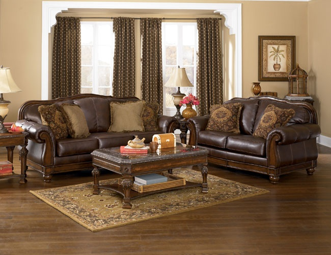 Tuscany Leather Sofa Set Abbyson Tuscan Tufted Top Grain