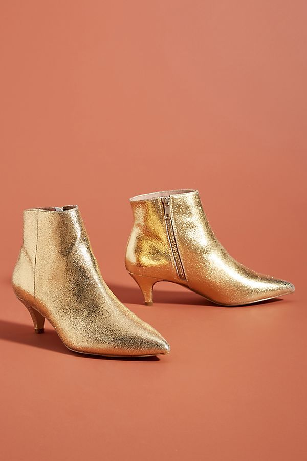 Kitten Heeled Ankle Boots Kitten Heel Boots Gold Ankle Boots Boots For Short Women